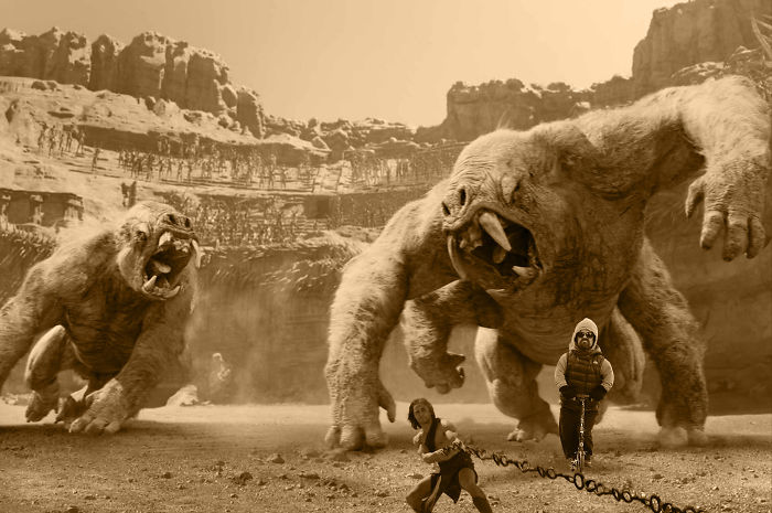 Tyrion Lannister On Mars Fighting With Monsters