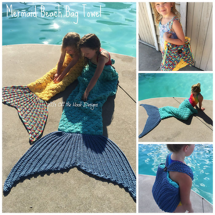 Great Idea! Magic Mermaid Beach Towel Actually Converts To A Travel Bag!