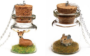 This Artist Creates Miniature Animals In Bottles