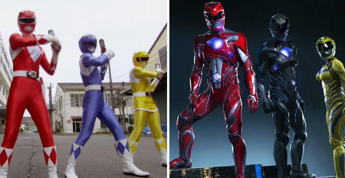 Power Rangers 1993 And 2017