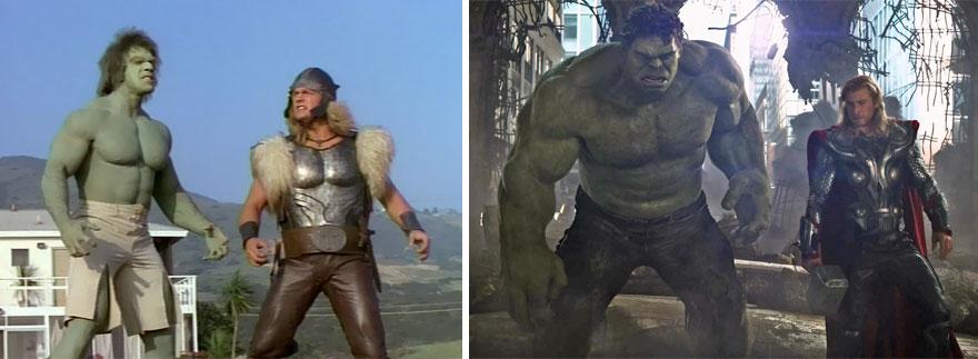 Hulk And Thor 1988 And 2012