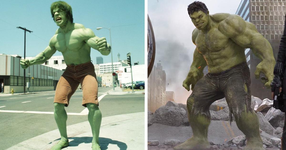 antes y después de superhéroes y villanos
