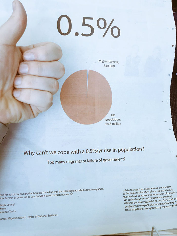 newspaper-ad-immigration-pie-chart-statistics-brexit-laurence-taylor-6