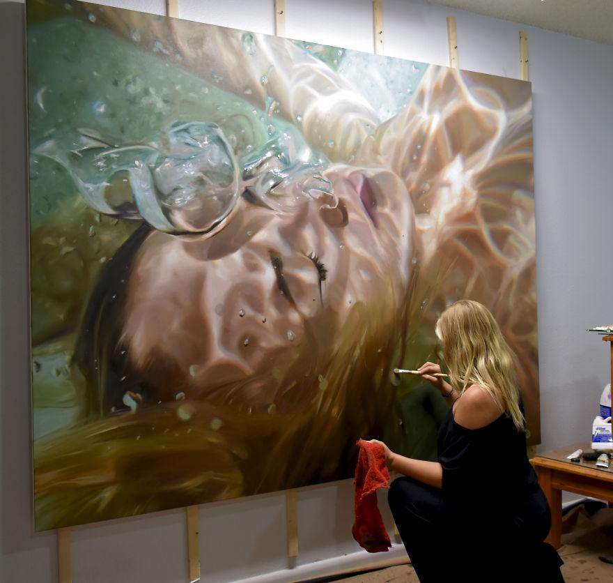 Realistic Underwater Paintings Inspired By My Memories Of