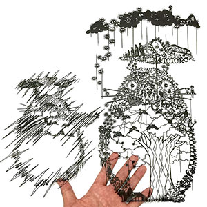 Japanese Artist Hand-Cuts Insanely Detailed Paper Art
