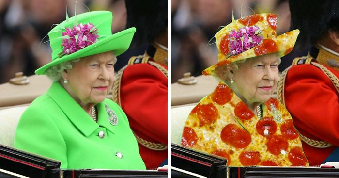 the queen�s �green screen� outfit sparks a hilarious