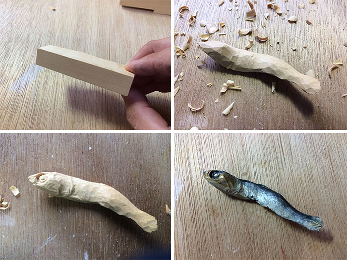 Realistic Wooden Food By Seiji Kawasaki