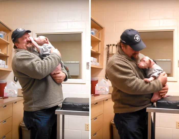 Pit Bull Pup Cant Believe His Rescuer Is Back To Adopt Him Bored