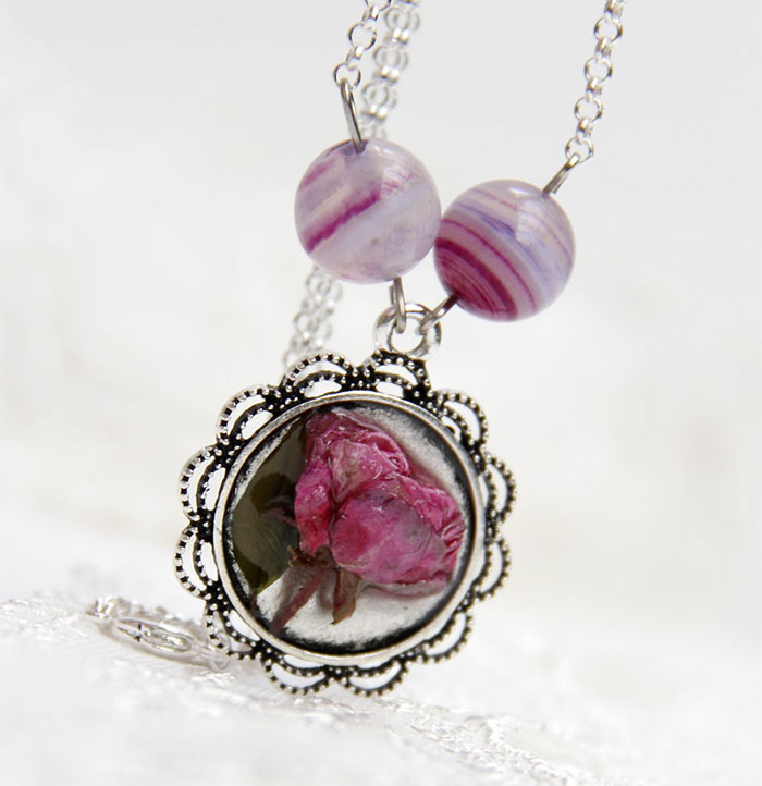 I Create Romantic Jewelry With Real Roses