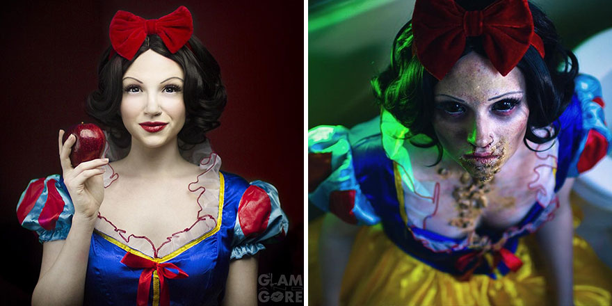 Snow White Before And After The Poisoned Apple