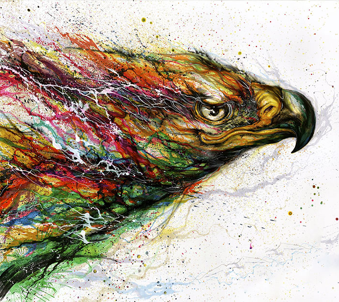 Splattered-Ink Paintings Where I Turn Chaos Into Art
