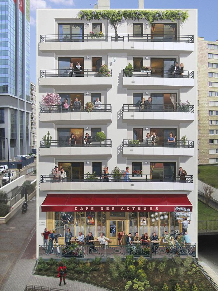 French Artist Transforms Boring City Walls Into Vibrant Scenes - Spanish street artist transforms building facades into amazing artworks