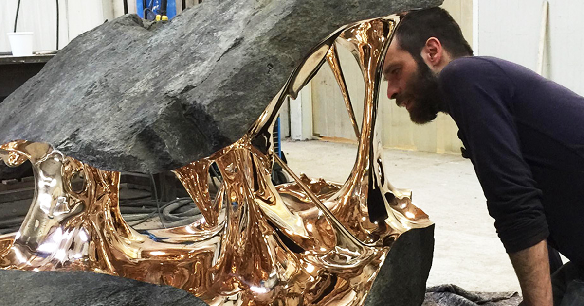 Stretched Bronze Sculptures By Romain Langlois Look Like Something From Another Planet