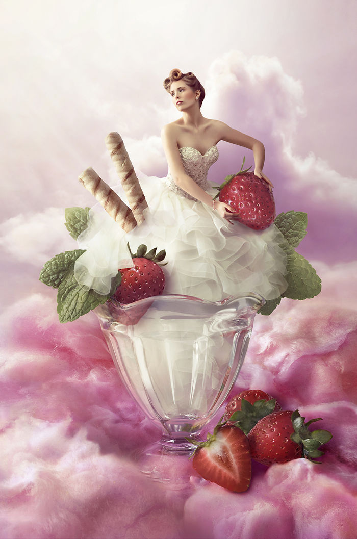 We Made A Surreal And Delicious Wedding Dress Ad.