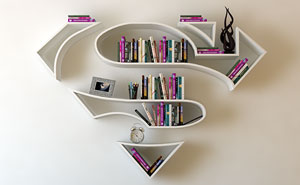 Superhero Bookshelves By Turkish Artist Burak Doğan