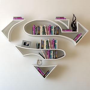 Superhero Bookshelves By Turkish Artist Burak Doğan