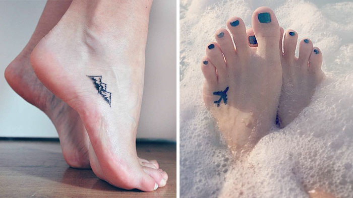 15+ Tiny Foot Tattoo Ideas Showing Sometimes Less Is More