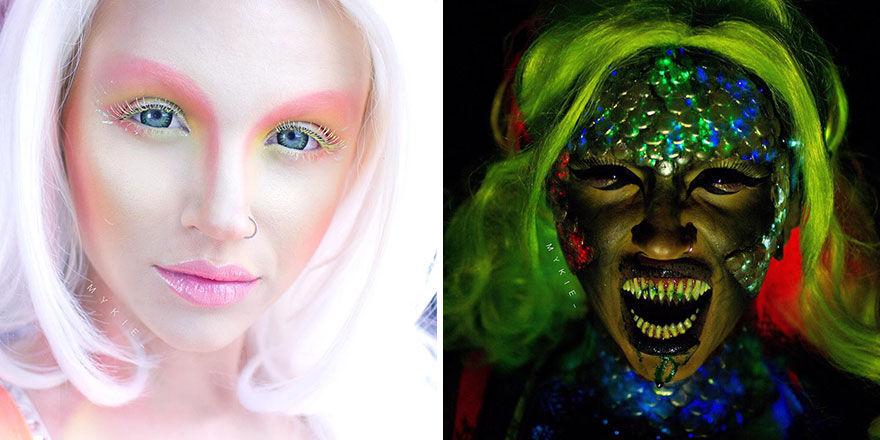 Mermaid Before And After Being Exposed To Toxic Waste