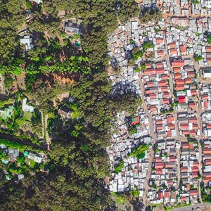Lines Dividing Rich And Poor Captured With Drones