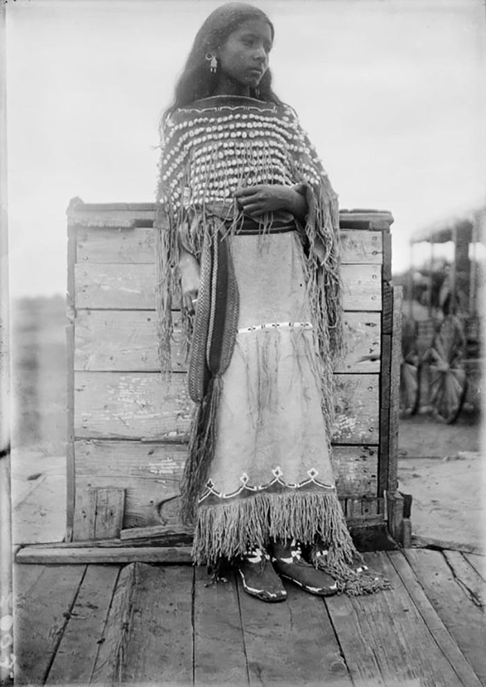 A Kiowa Girl, 1892