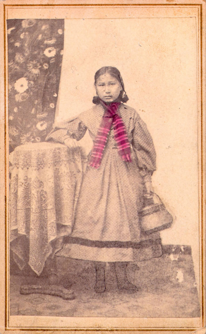 Arapaho Girl Only Child Saved Out Of Sand Creek Massacre, 1870-1880, By Mckinney, Albert S.