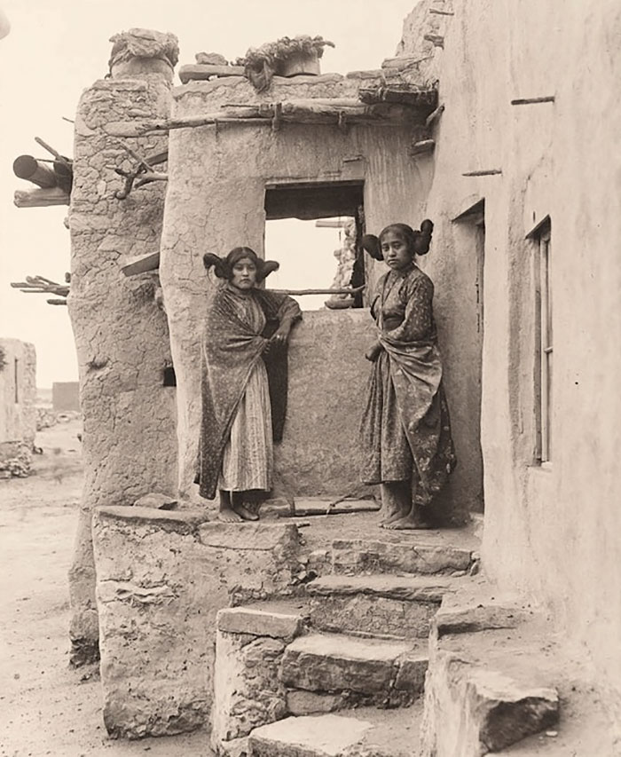 Hopi Girls, 1900, By Frederick Monsen