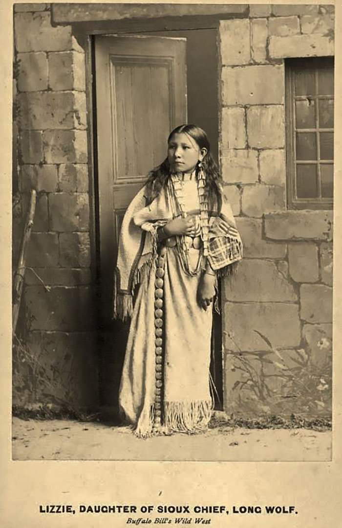Lizzie Long Wolf As A Performer In Buffalo Bill's Wild West Show, 1886