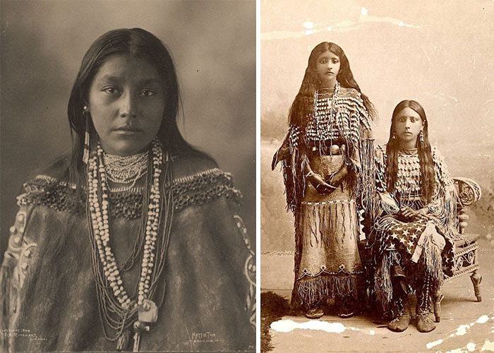 1800s-1900s Portraits Of Native American Teen Girls Show Their Unique Beauty And Style (15+ Pics)