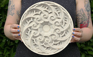 We Stack Layers Of Laser Cut Wood To Make Intricate Mandalas