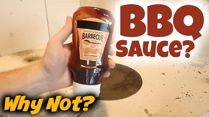 Making A Hot Bubbling Lava Out Of Bbq Sauce? Yes!