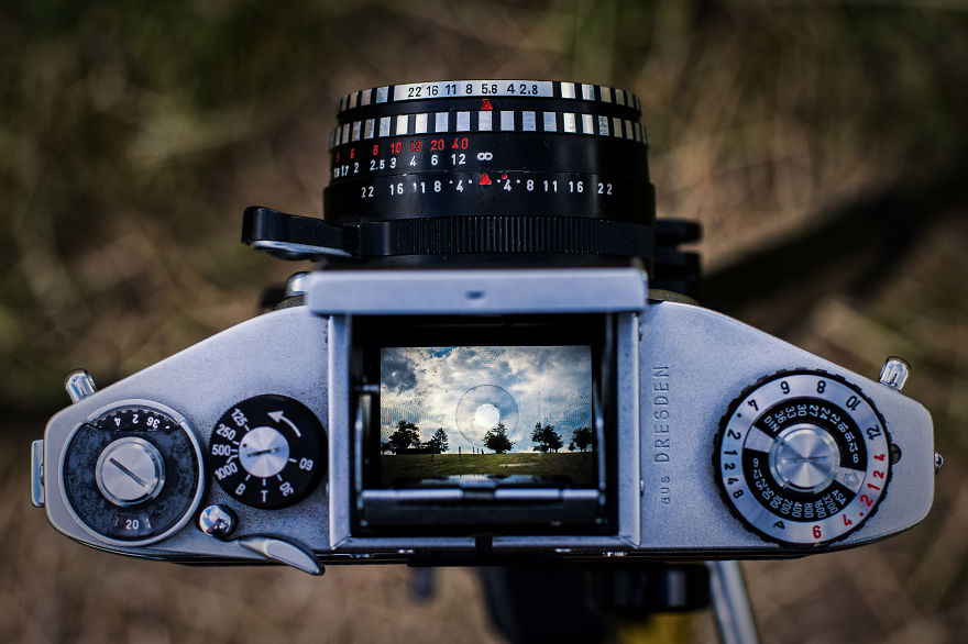 I Take Pictures Through The Viewfinder Of An Old Analog Camera