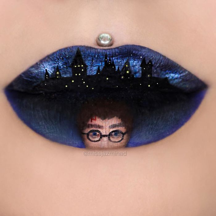 Creative-lip-makeup