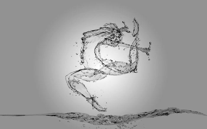 I Recreated Olympic Athletes Using Only Splashes Of Water