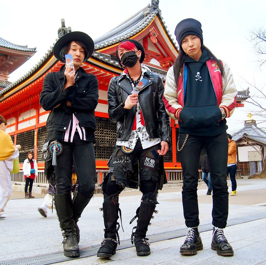 Akihiko, Daisuke And Hiroki. Kiyomizu Temple, Kyoto, Japan