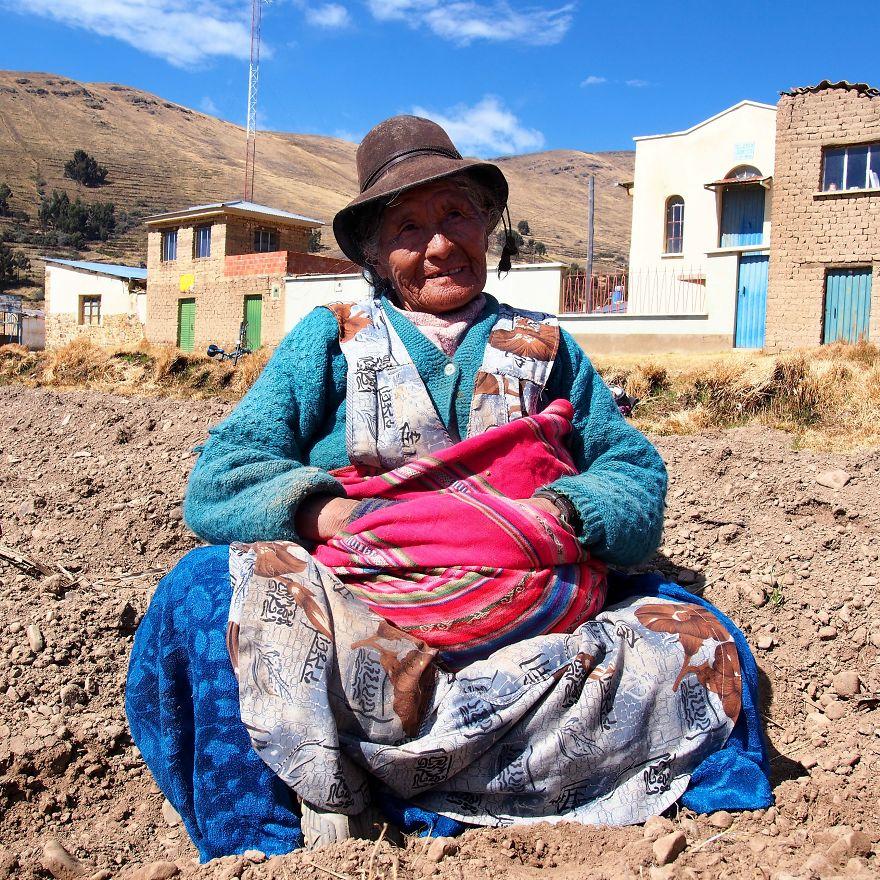 Braulia, Farmer. Titicaca Lake, Bolivia