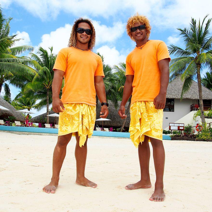 Noho And Clement, Cousins And Tourist Guides. Bora Bora, French Polynesia