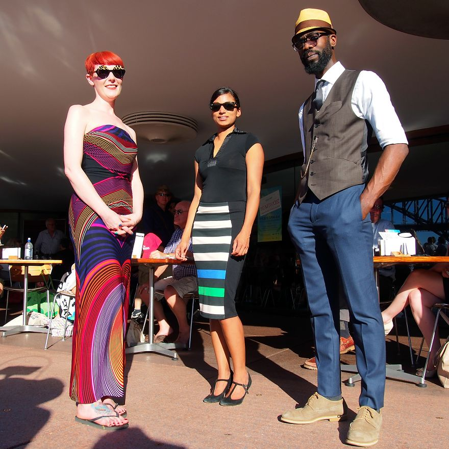 Catherine, Amriitha And Sam, Opera House Bar. Sydney, Australia