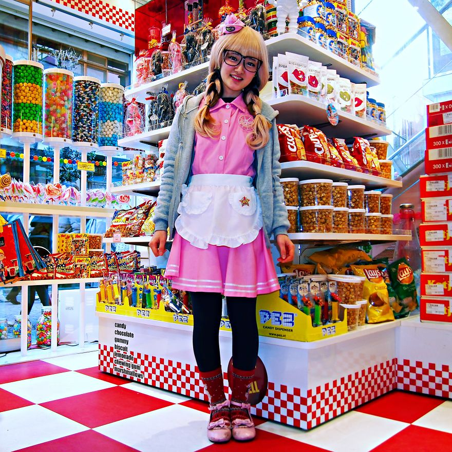 Saya, Candy Seller. Harajuku District, Tokyo, Japan