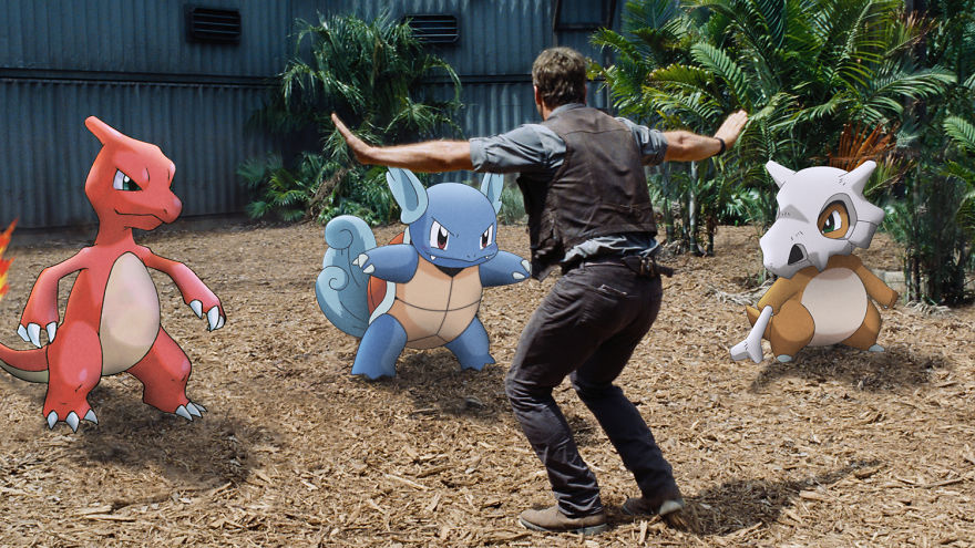 Charmeleon Wartortle And Cubone Join Jurassic World