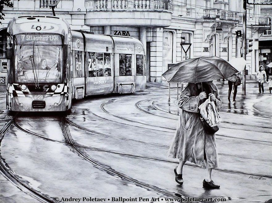 Realistic Ballpoint Pen Drawings That Take Me Up To 300 Hours (Part 2)