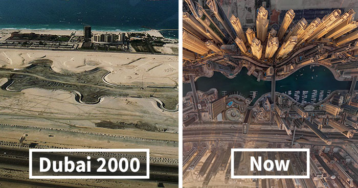 15+ Before-And-After Pics Showing How Famous Cities Changed Over Time