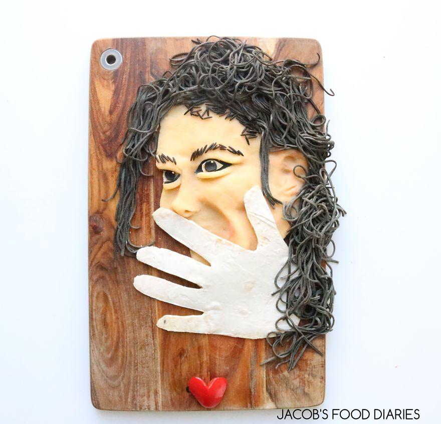 Michael Jackson. Black Bean Noodles With Mash Potato