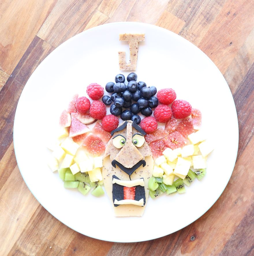 Alex The Lion From Madagascar 3. Spelt, Almond, Linseed And Sunflower Seed Pancakes With Fruit