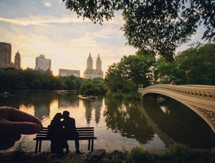 Romantic Moment In NYC