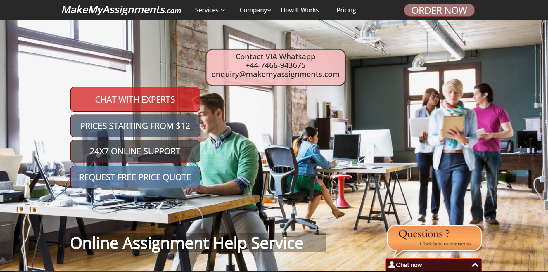 Make assignment online
