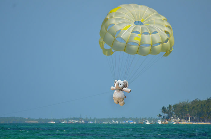 Parasailing In A Tropical Island
