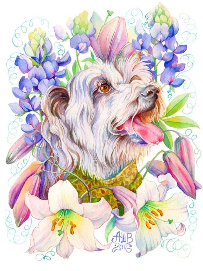 I Turn Peoples' Pets Into Beautiful Watercolour Portraits (Part 2)