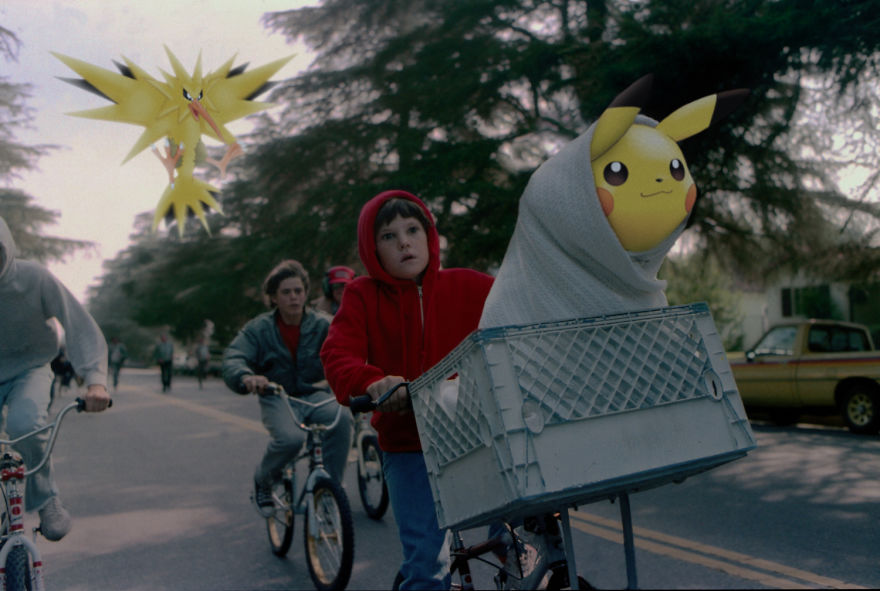 Pikachu And Zapdos In E.T.