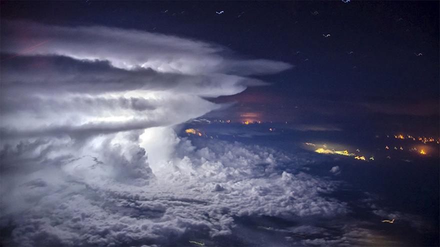 😯 Como se ve lluvia, se ves desde un avión.   #DescubreUdever
