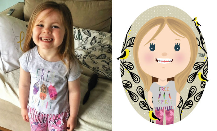 I Take Children's Photos From The Internet And Turn Them Into Playful Illustrations (Part 3)